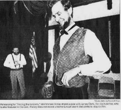 Historical Impersonator Michael Krebs as Abraham Lincoln: Chicago ...